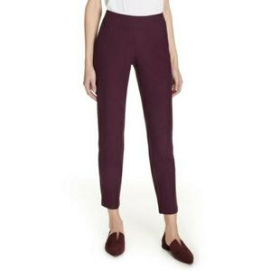 Eileen Fisher crepe slim ankle pant in Rasnt NWT